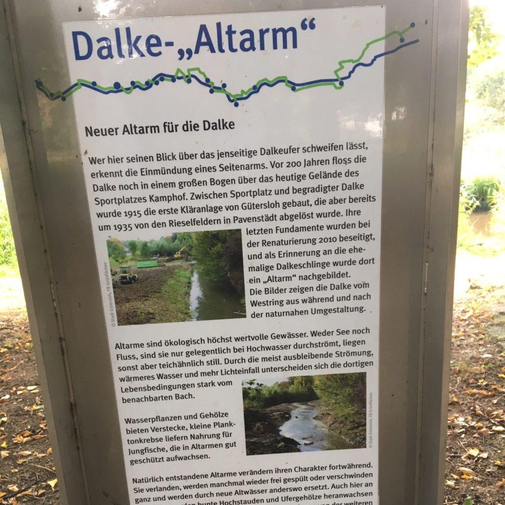 Erläuterung zur Renaturierung des Dalke-Laufs